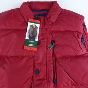 Orvis Down Filled Puffer Vest Zip Chest Pocket NWT